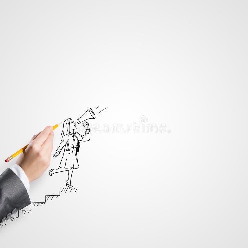 Schizzo della donna di affari immagini stock