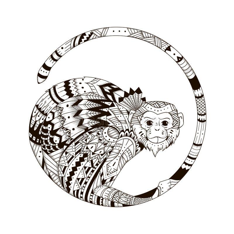 Schizzo della stampa del tatuaggio su una maglietta royalty illustrazione gratis