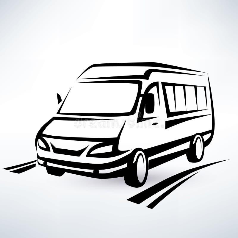 Schizzo descritto mini furgone royalty illustrazione gratis