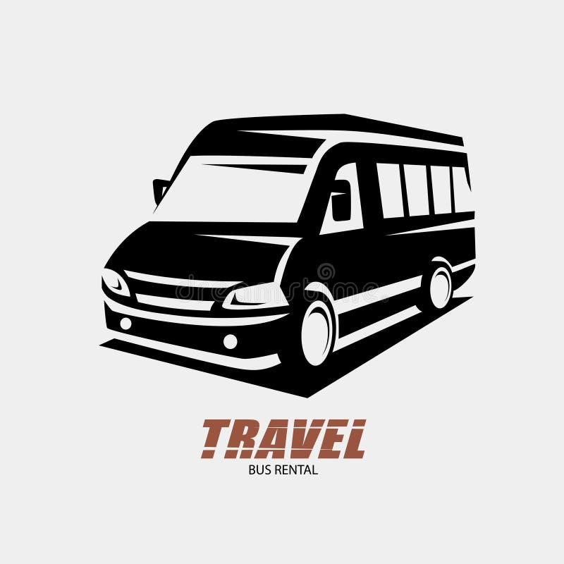 Schizzo descritto mini furgone, simbolo isolato di vettore illustrazione vettoriale