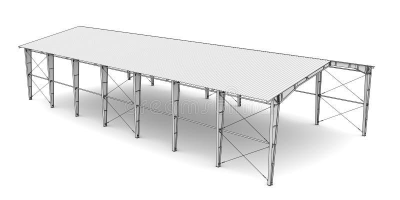 Schizzo di architettura industriale illustrazione di stock for Programmi 3d architettura