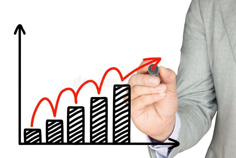 Schizzo di crescita di affari immagine stock