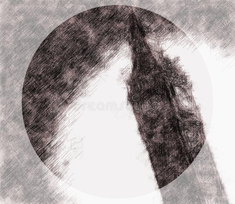 Schizzo di grande Ben Clock Tower illustrazione vettoriale