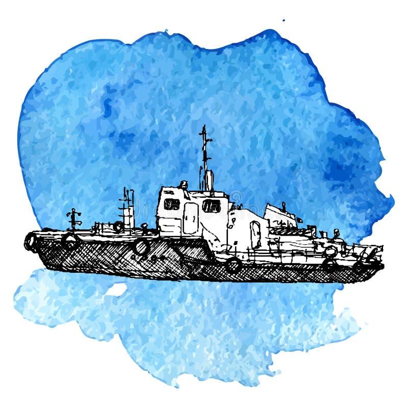 Schizzo di vettore della nave illustrazione vettoriale