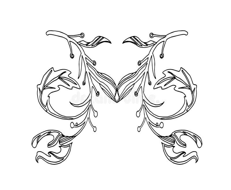 Schizzo disegnato a mano di vettore dell'illustrazione di simbolo di lettera di m. su fondo bianco illustrazione vettoriale
