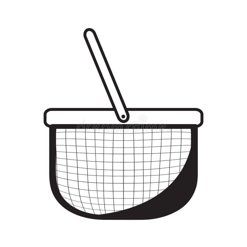 Schizzo vuoto del canestro di picnic royalty illustrazione gratis
