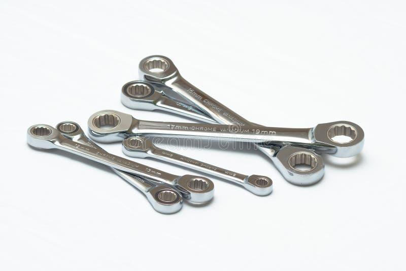 Schlüssel eingestellt für Gebrauchsmechanikerstrecke stockfoto