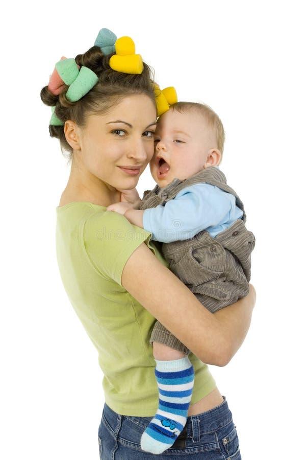 Schläfriges Baby lizenzfreies stockbild
