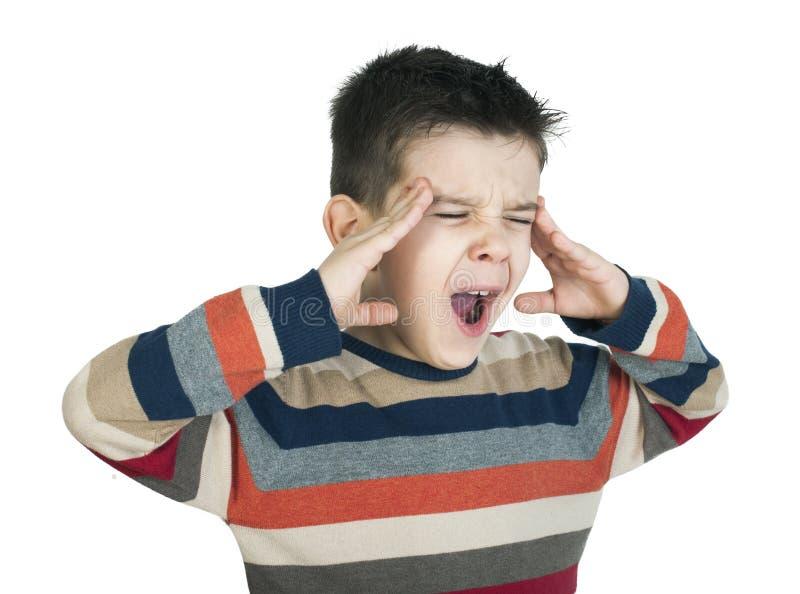 Schläfriges gähnendes Kind das. lizenzfreie stockbilder