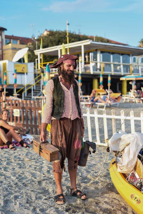 Schlürfen Sie den Piraten von Tarquinia Viterbo Italien stockbild