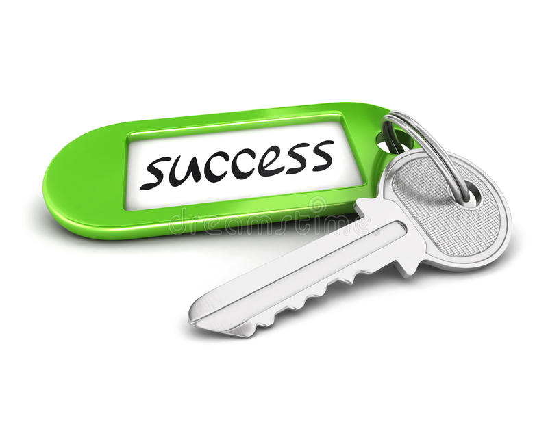 Schlüssel 3d zum Erfolg vektor abbildung