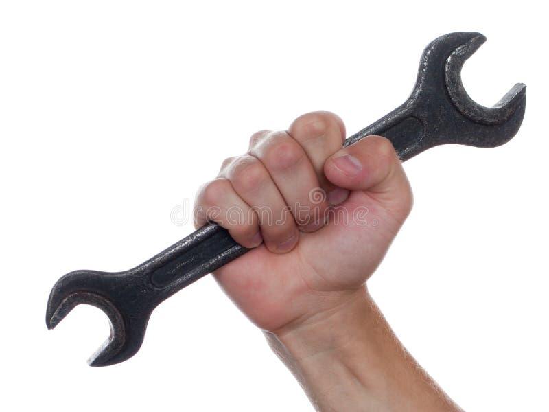 Schlüssel in der Hand lizenzfreie stockbilder