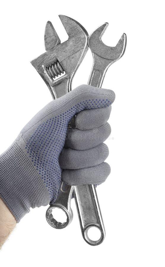 Schlüssel in der Hand lizenzfreies stockfoto