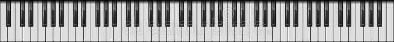 Schlüssel des Klavier-88 Realistische Art Vektor lizenzfreie abbildung