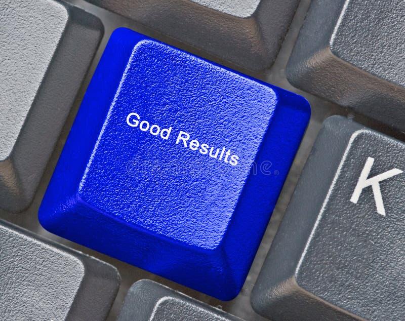 Schlüssel für gute Ergebnisse stockbild