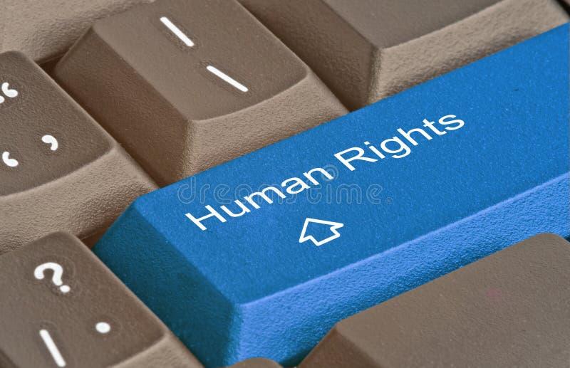 Schlüssel für Menschenrecht stockfotografie