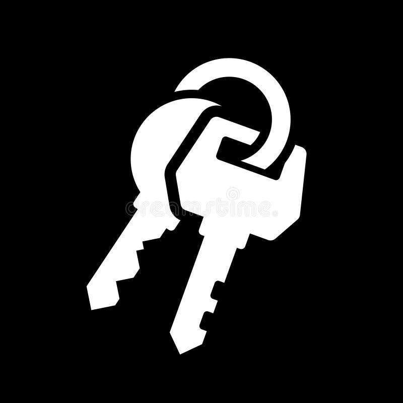 Schlüssel-Ikone lizenzfreie abbildung