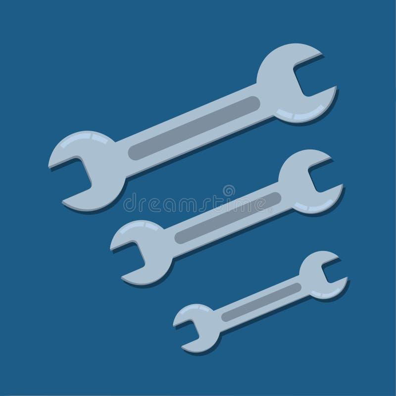 Schlüssel-Illustration des offenen Endes stock abbildung