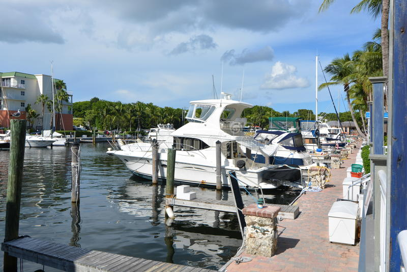 Schlüssel-Largo Resorts And Marina stockfotos