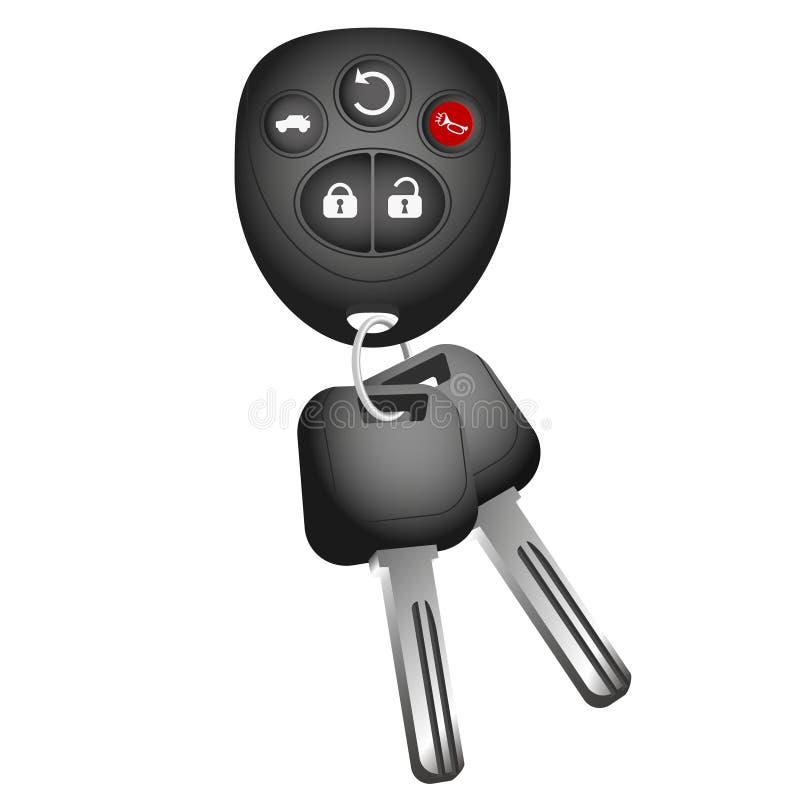 Schlüssel- und Schlüsselring zum Auto lizenzfreie abbildung