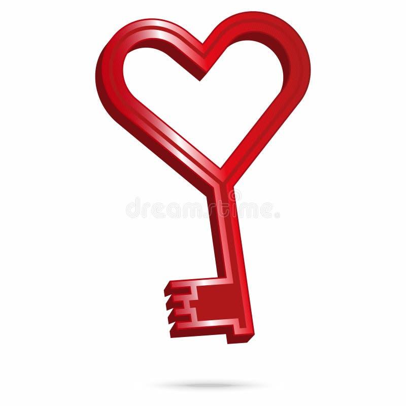 Download Schlüssel Zu Meinem Herzen Stock Abbildung. Bild Von Liebe    37457795