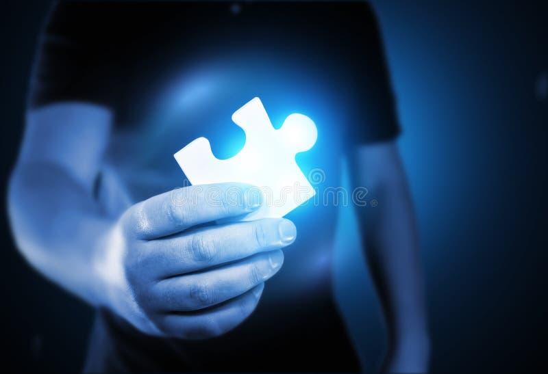 Schlüssel zum Puzzlespiel stockfotografie
