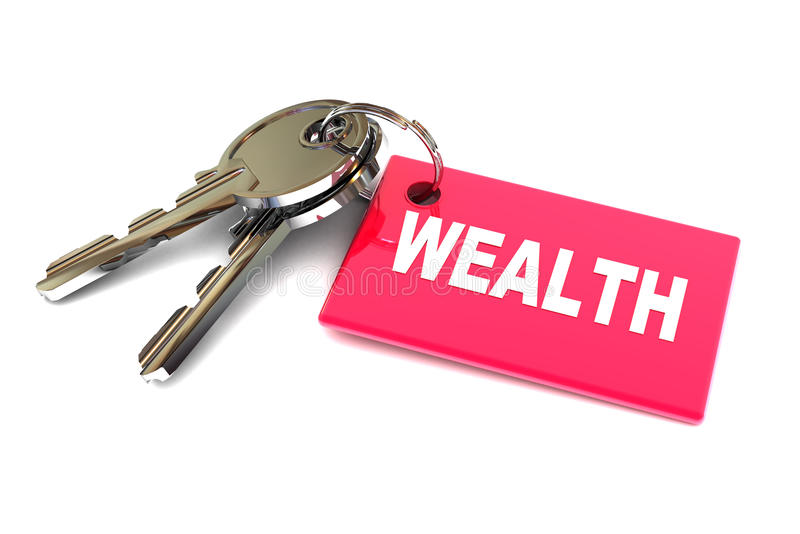 Schlüssel Zum Reichtum Stockbild