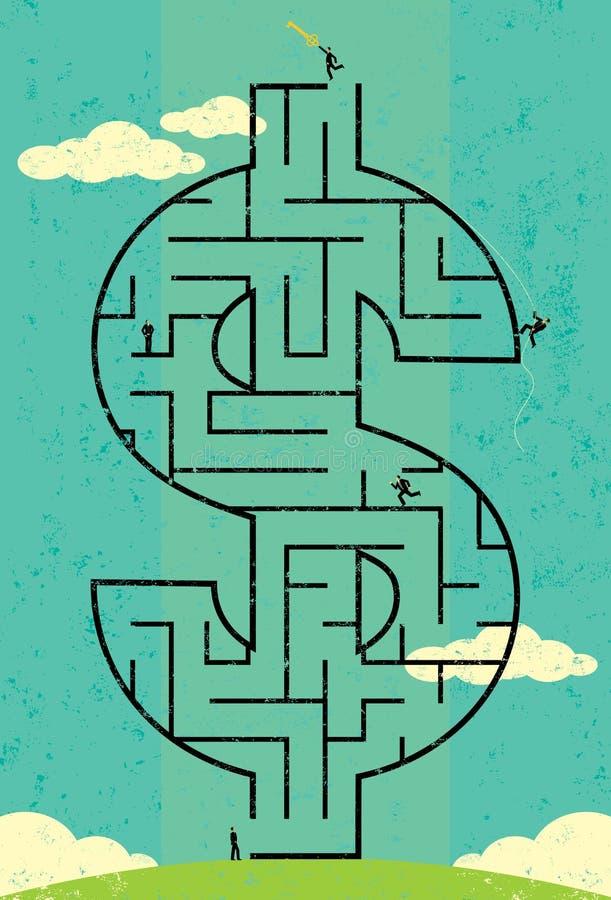Schlüssel zum Reichtums-Labyrinth vektor abbildung