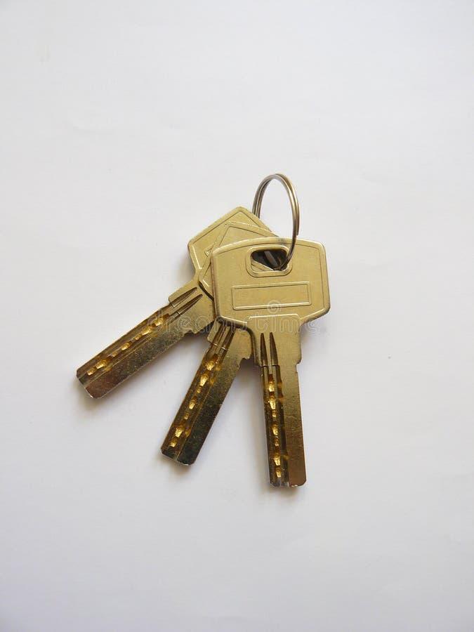 Schlüssel zum Türschloss lizenzfreie stockbilder