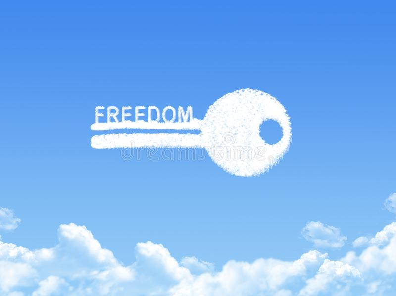 Schlüssel zur Freiheitswolkenform stock abbildung