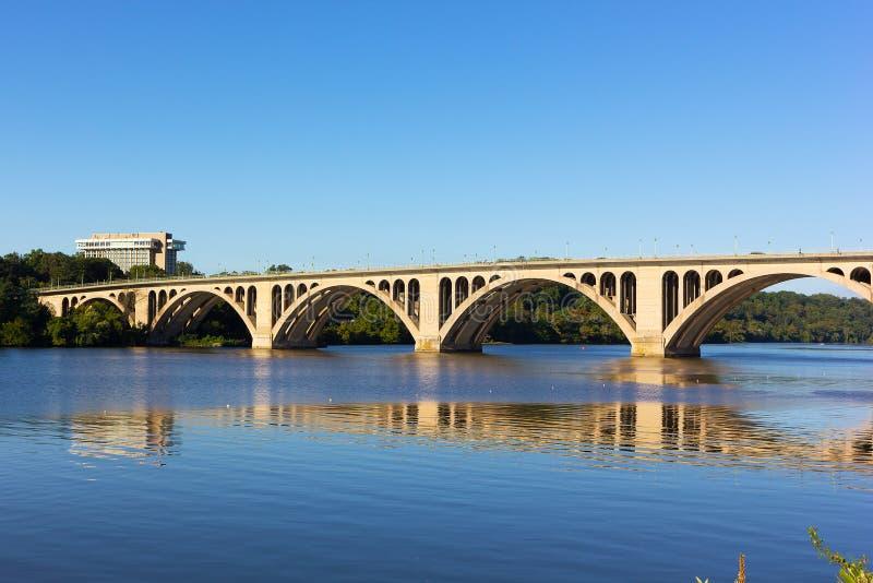 Schlüsselbrücke über dem Potomac, Washington DC, USA lizenzfreies stockfoto