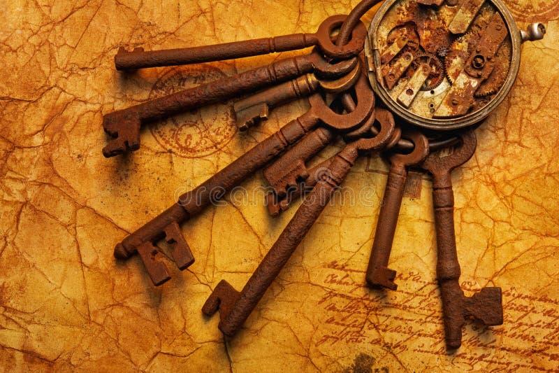 Schlüsselbund mit Gänge lizenzfreie stockbilder