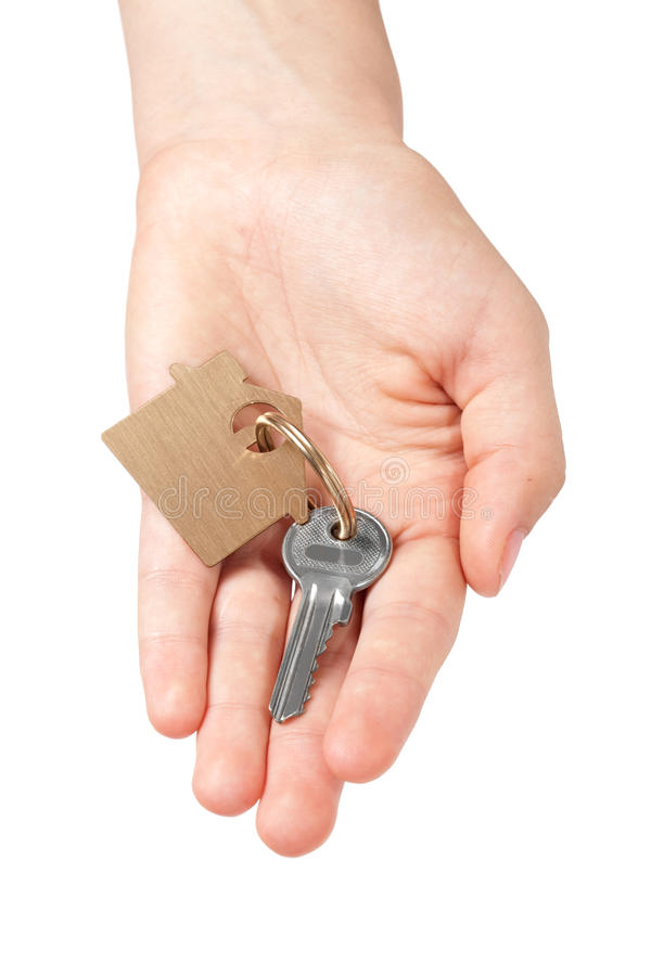 Schlüsselkette in der Hand stockfotografie