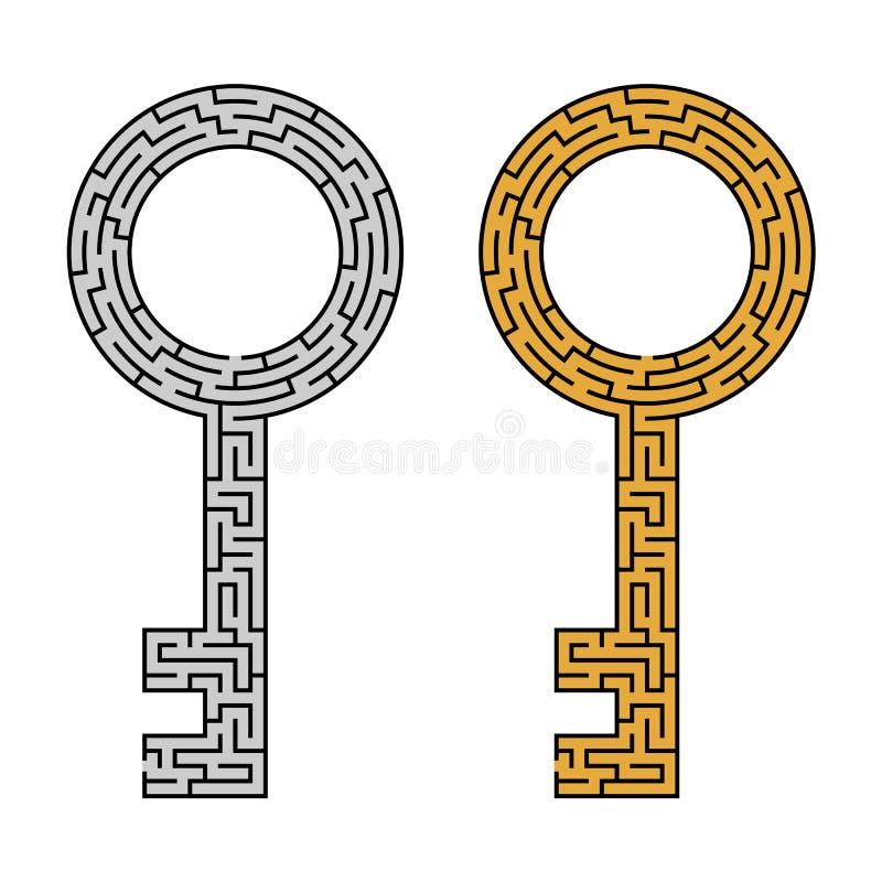 Schlüssellabyrinth lizenzfreie abbildung