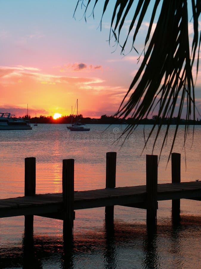 Schlüssellargo-Sonnenuntergang II stockbild