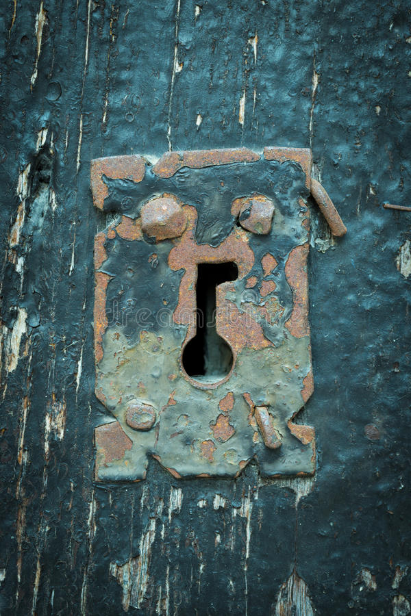 Schlüsselloch stockfoto
