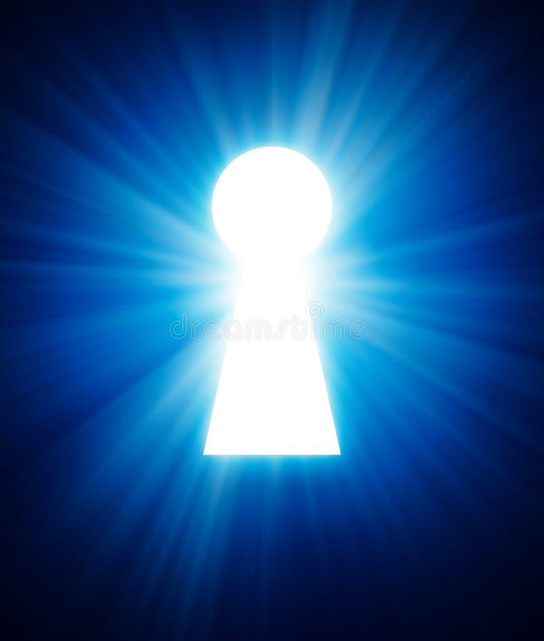 Schlüsselloch auf einer Dunkelheit vektor abbildung