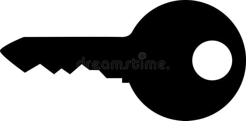 Schlüsselschattenbild vektor abbildung