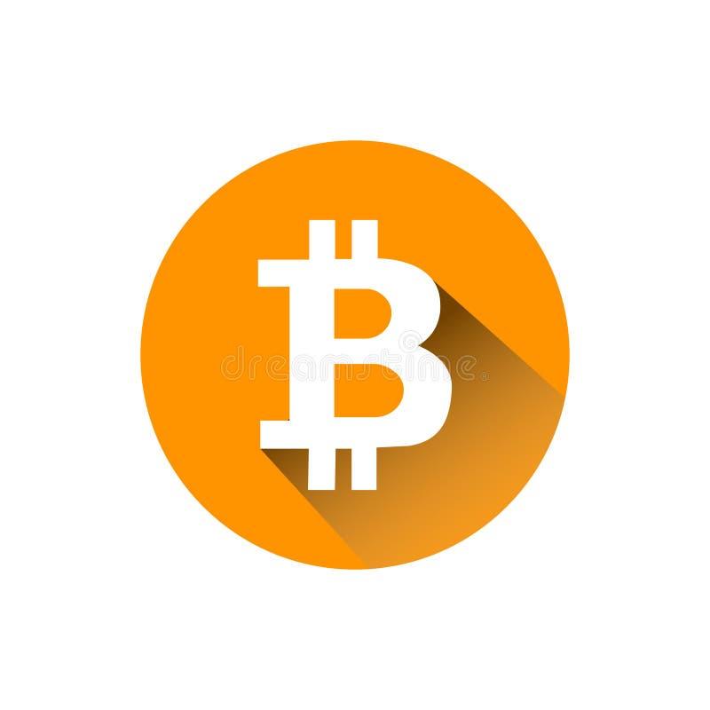 Schlüsselwährung Bitcoin blockchain flaches Logo ein farbiger dreieckiger Hintergrund vektor abbildung
