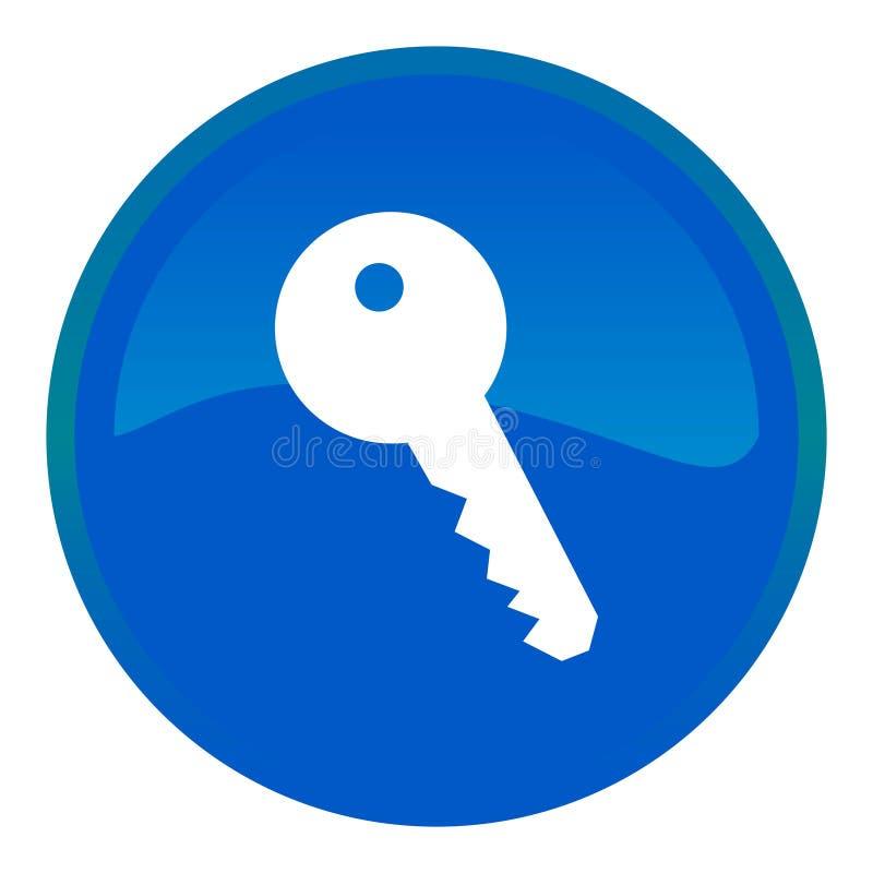 Schlüsselweb-Taste lizenzfreie abbildung