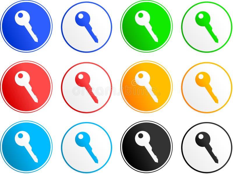 Schlüsselzeichenikonen lizenzfreie abbildung