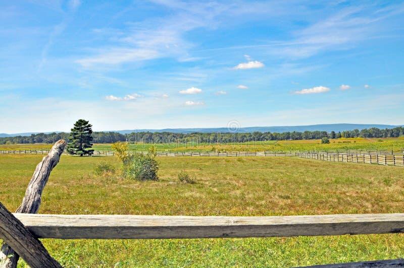 Schlacht von Gettysburg: Picketts Gebühr stockbild