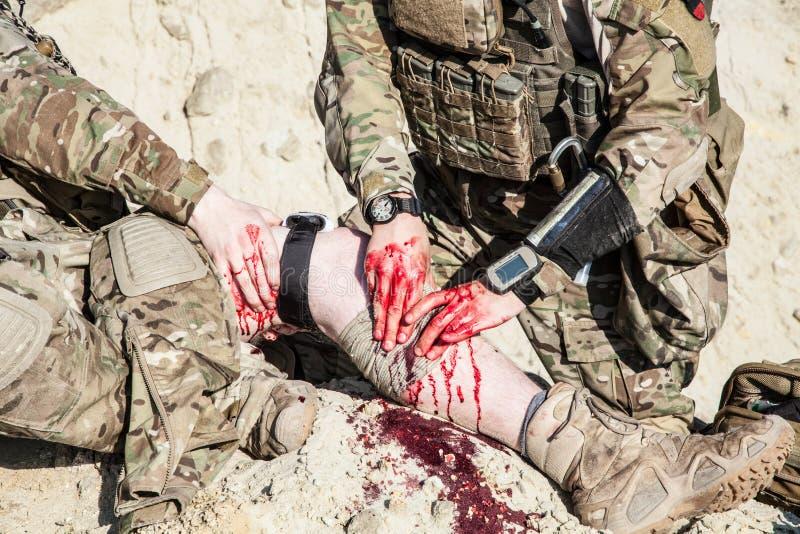 Schlachtfeld-Medizin stockfoto
