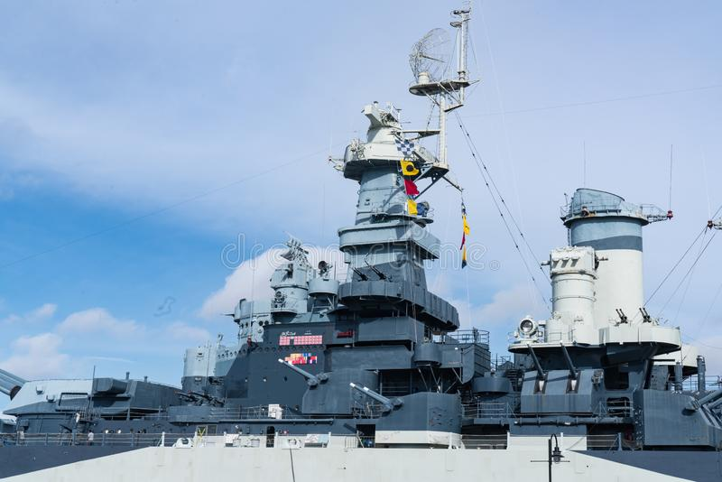 Schlachtschiff USS-North Carolina lizenzfreie stockfotografie