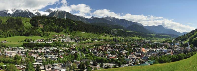 Schladming, Styria, Austria. The alpine town Schladming located under Dachstein mountains in Styria - Austria stock images