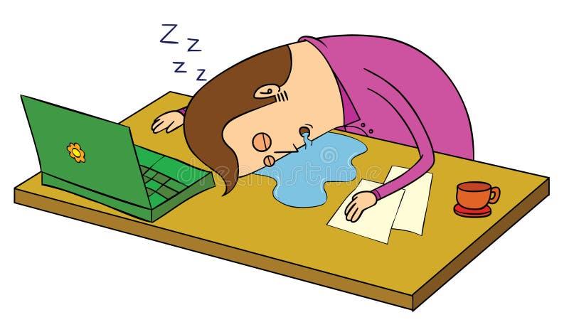 Schlaf vorbei im Büro vektor abbildung