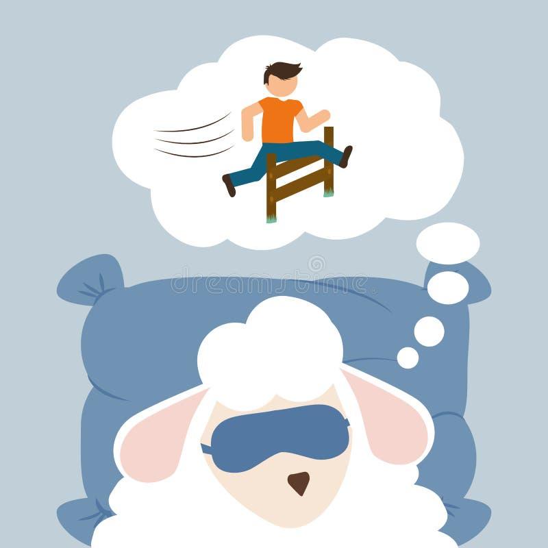 Schlafdesign lizenzfreie abbildung