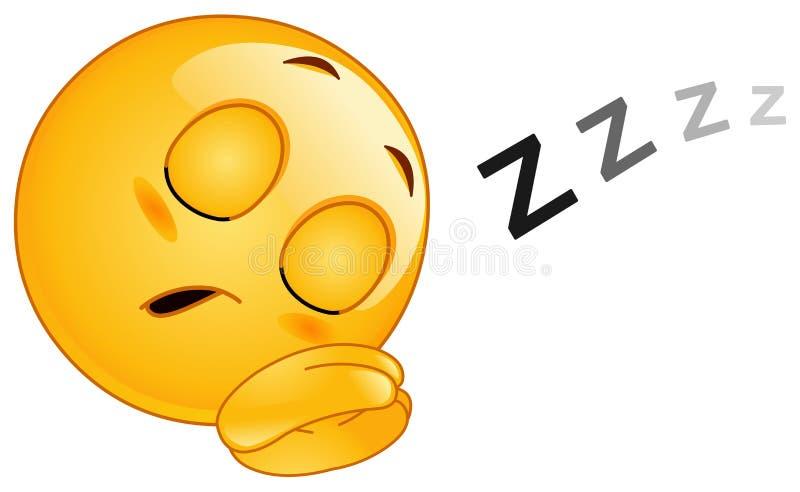 Schlafen Emoticon lizenzfreie abbildung