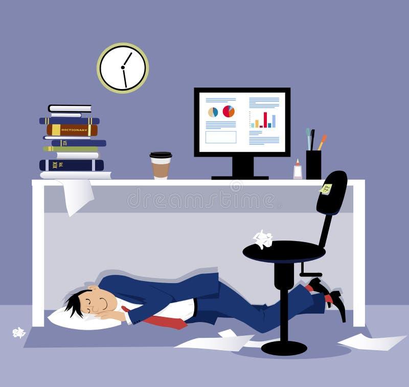 Schlafen im Büro vektor abbildung