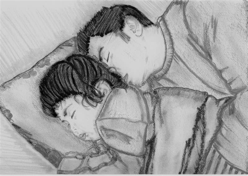 Schlafen wie ein Schätzchen lizenzfreie stockbilder